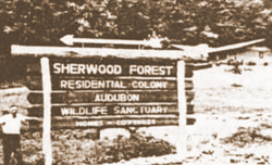 Original Sherwood Forest Entrance Sign