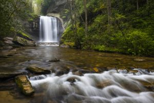 Looking Glass Falls - Pisgah National Forest