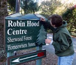 Volunteer Painting Sign